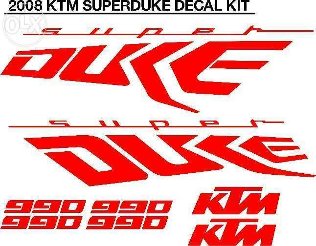Decals graphics sticker sets for KTM motorcycles