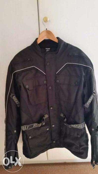 Assault black men's XXL bikers jacket