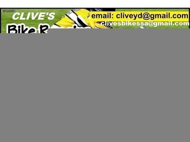 BIKE REPAIRS:/UMHLANGA/DURBAN/TOTI/UMZINTO/MARGATE/PORT EDWARD@CLIVES BIKES