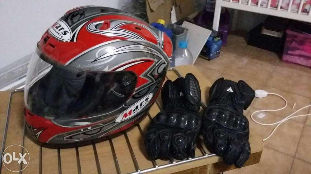 Bike Helmut and Gloves for sale