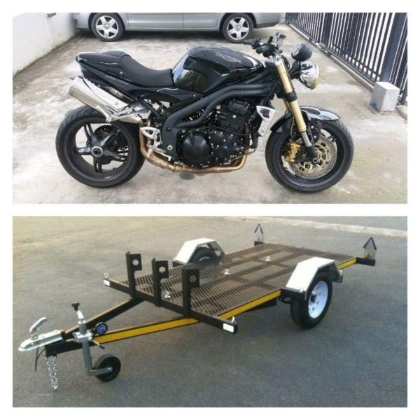 Triumph Speed Triple and Trailer