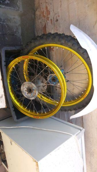 Gold excell rims