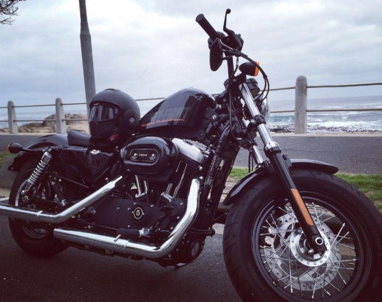 2015 Harley-Davidson 48 Sportster with custom exhaust, Helmet, Jacket and Bag