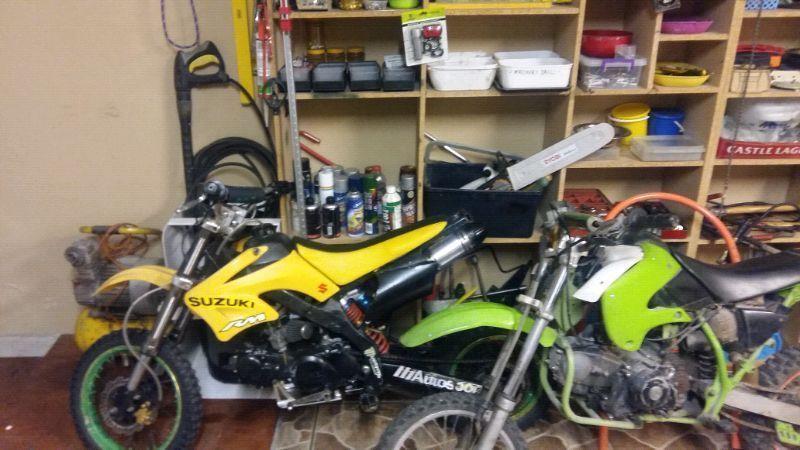 2 pit bikes 125 cc