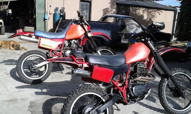 Honda XR 500 and RE 500
