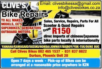 Jonway/bigboy parts new and used at clives bikes