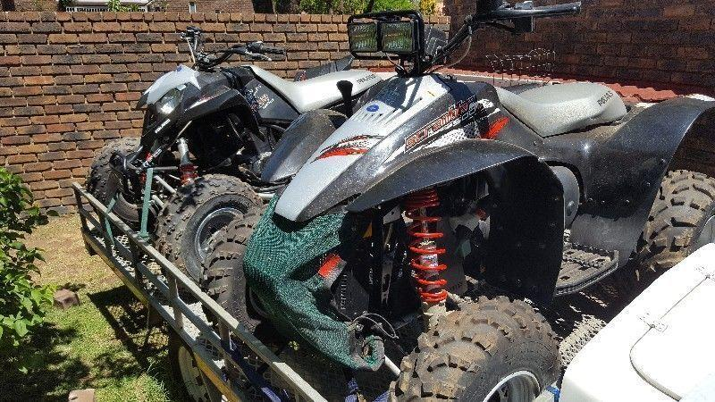 Polaris Outlaw & Scrambler 500cc With Dbl Trailer for sale