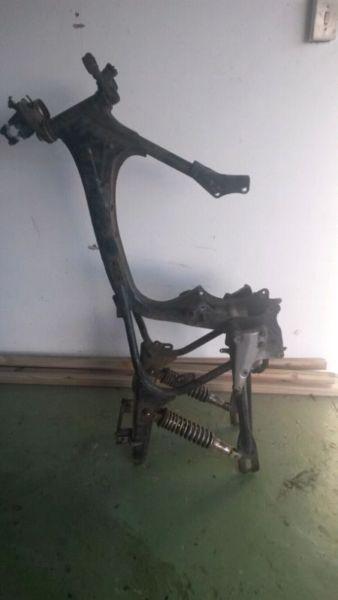 Honda CB400N hawk frame and various parts