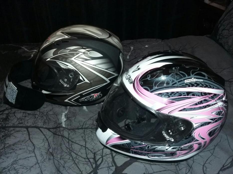 Motorcycle helmets x2