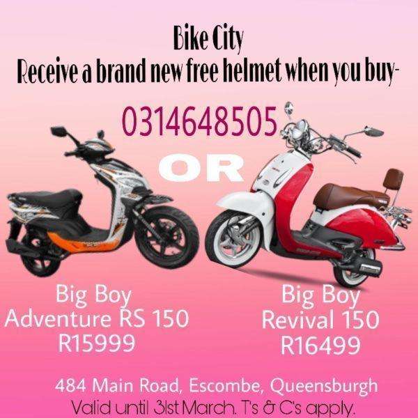Buy A Scooter, Get A Free Helmet At Bike City!