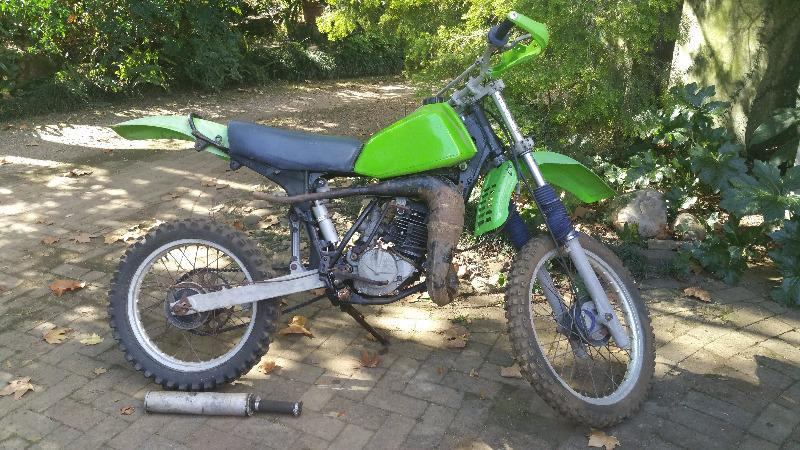 Kawasaki KDX 250 scrambler motorcross motorbike