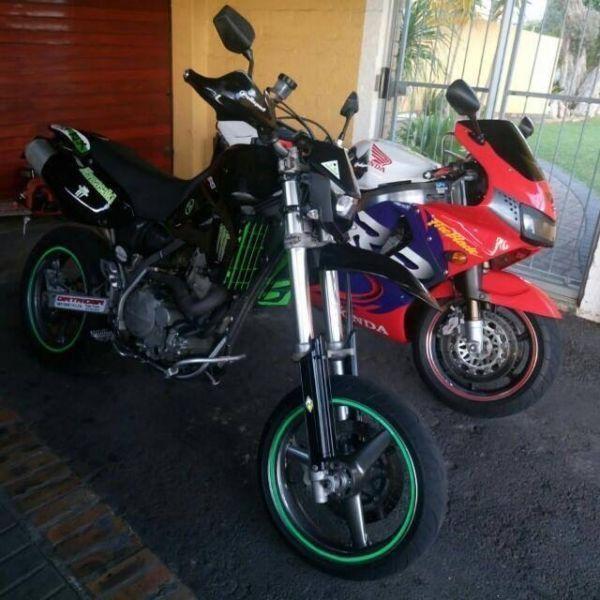 Motorbike Kawasaki klx 650 R Supermotard