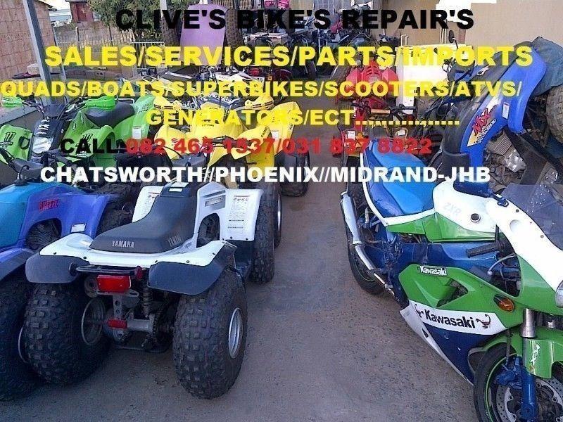 bike repairs/superbikes/roadbikes/quads/golf carts/generators/scooters