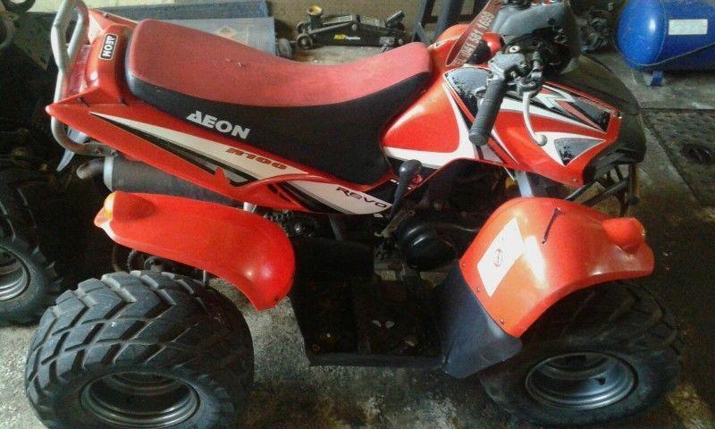aeon 100 cc 2 stroke quad
