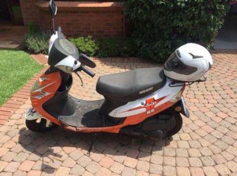 Orange Big Boy Scooter & Helmet