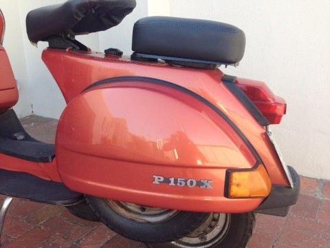 Vespa Piaggio P150X excellent condition with roadworthy