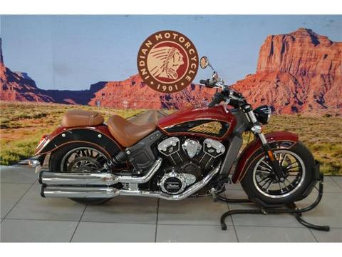 2018 Indian Scout 1133 Pillion Seat, Indian Red over Black, 1800Km
